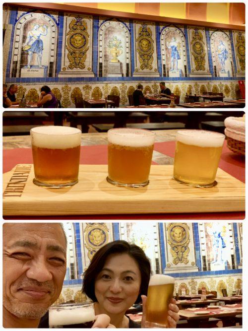 老舗のビヤホール「トリンダーデ」でビールの飲み比べ