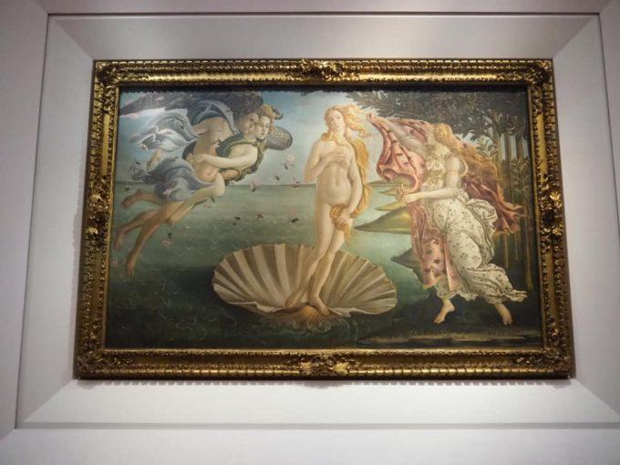 ボッティチェリ の「ヴィーナスの誕生」
