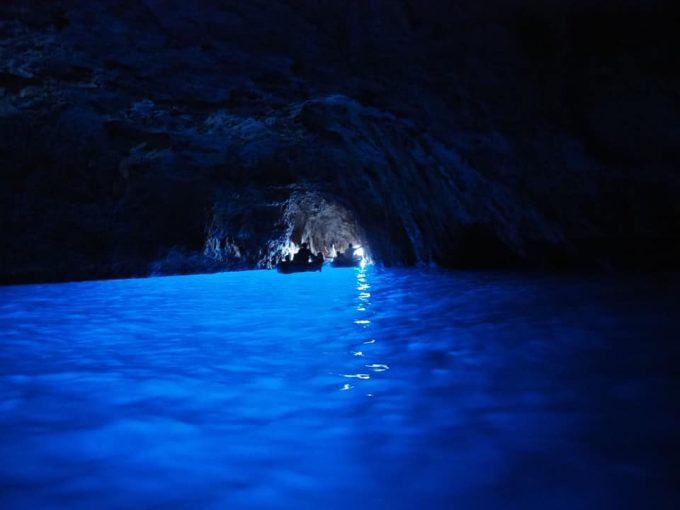 念願の青の洞窟!本当に綺麗でした