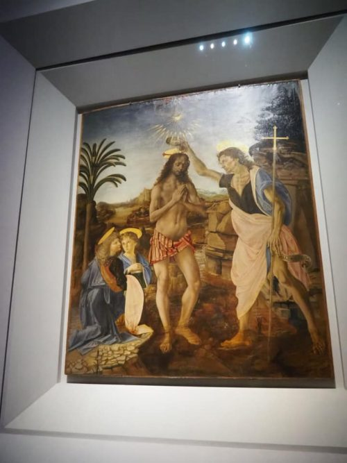 レオナルド・ダ・ヴィンチの「キリストの洗礼」