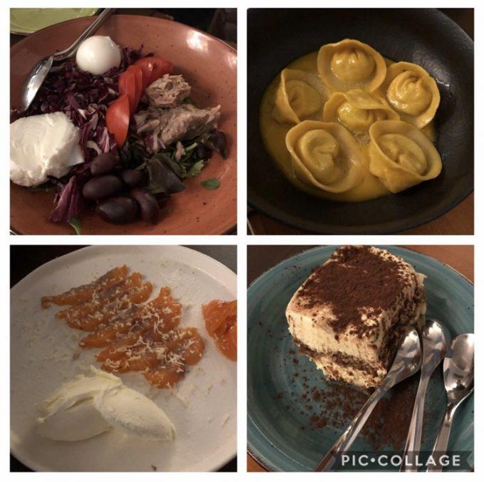夕飯は「Pizzeria Vittoria」にて。どれも最高に美味しくて大満足!