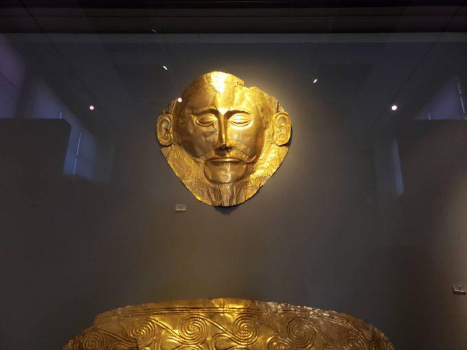 一番の見どころ「ミケーネの黄金のマスク」