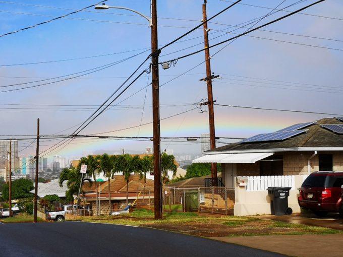 美しい虹に迎えられました!
