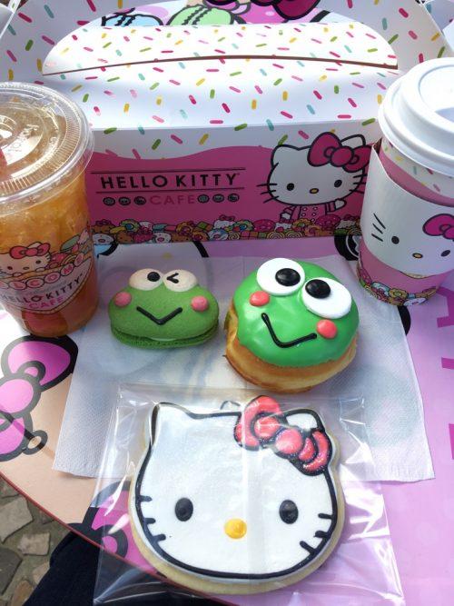 キティカフェも7月にできました!私はケロッピのファンです!