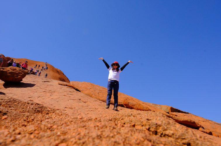 念願のウルル登山