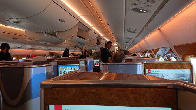 エミレーツ航空 ビジネスクラス