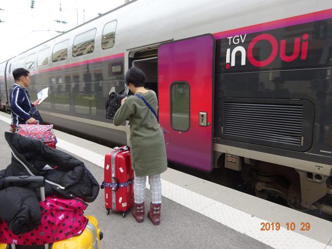 ニースTGVにてパリまで列車の旅