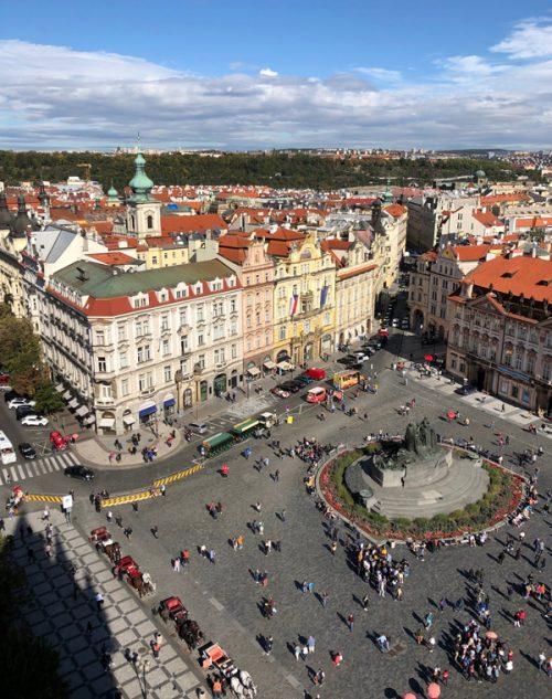 時計塔から見える「旧市街広場」