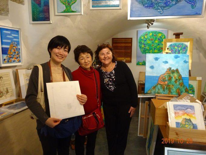 エズ村の画家Barbara Blancheさんのお店兼アトリエ