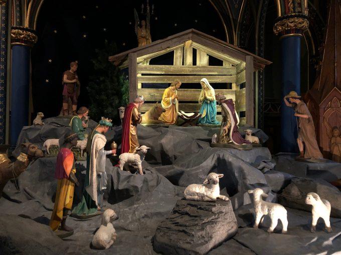 キリストの誕生の模型も設置されている