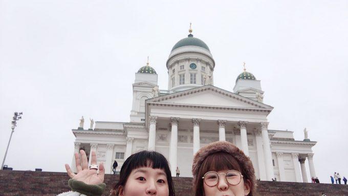 ヘルシンキ大聖堂をバックに撮影!