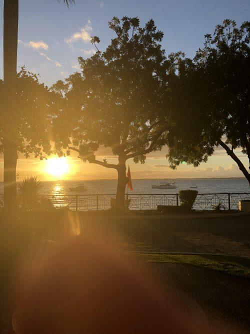 ヴィスタマービーチリゾートホテル、部屋からの景色(朝)