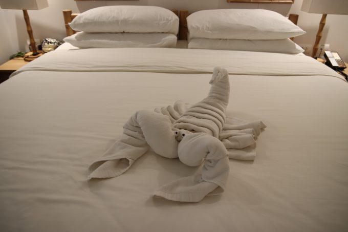 ホテルに戻ると、また素晴らしいベッドメイキング!笑