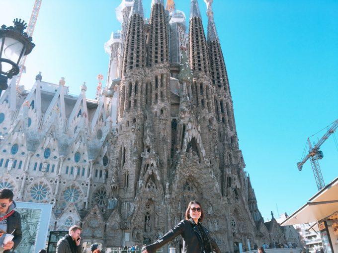 バルセロナっぽい記念写真!