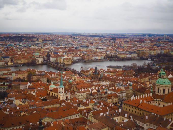 プラハ城の展望台からの景色