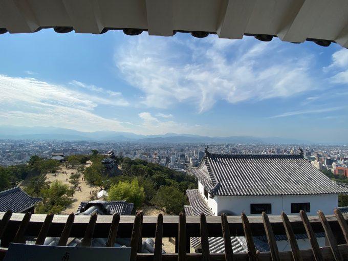 松本城の天守閣からの展望