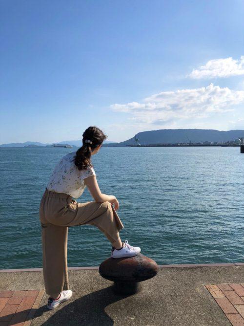 ホテルクレメント高松近くの海