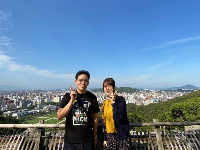松山城にて