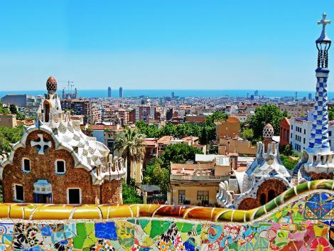 バルセロナ:グエル公園