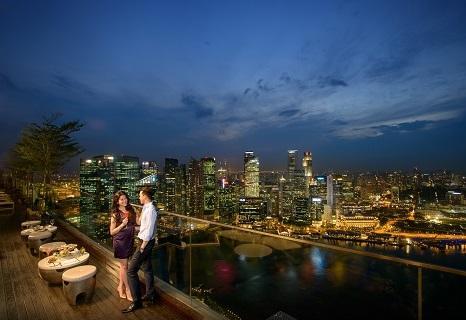 シンガポール:マリーナベイサンズ 夜景