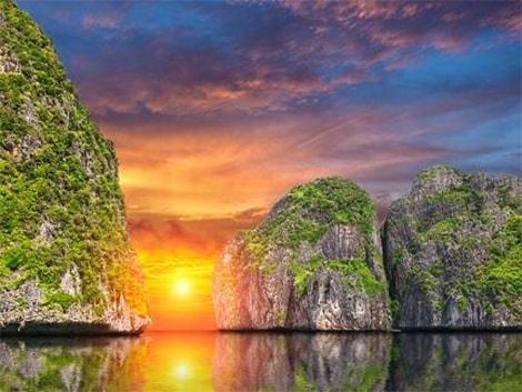 ピピ島 サンセット