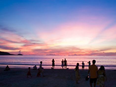 パトンビーチの夕焼け イメージ