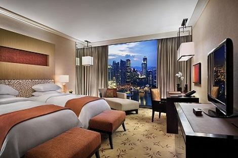シンガポール:マリーナベイサンズ Deluxe City View Room 客室一例/提供:Marina Bay Sands