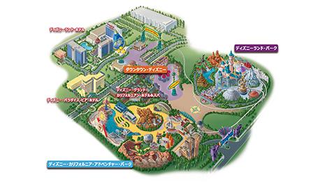 ディズニーランド・リゾートの全体マップ