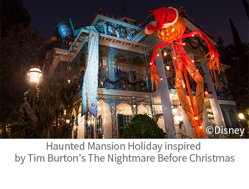 Haunted Mansion Holiday inspired by Tim Burton's The Nightmare Before Christmas