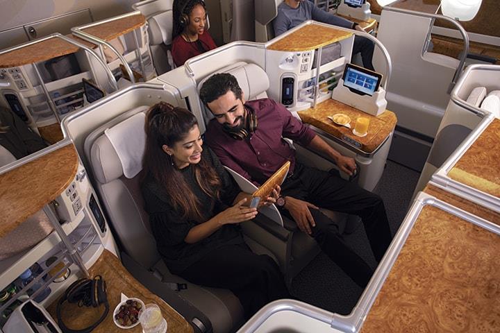 エミレーツ航空 A380 ビジネスクラス